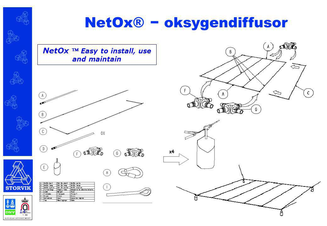 14 NetOx  Easy to install, use and maintain NetOx® − oksygendiffusor