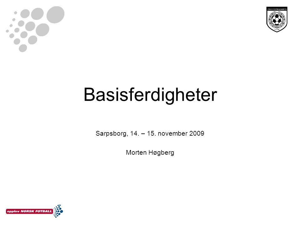 Basisferdigheter Sarpsborg, 14. – 15. november 2009 Morten Høgberg