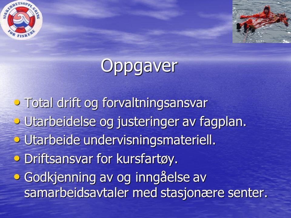 Kursene tilbys ved • Kursfartøy M/S Kongsnes som ambulere med kurser fra svenskegrensen til russegrensen.