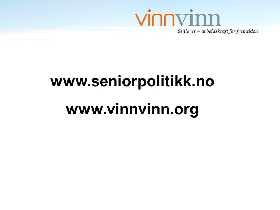 www.seniorpolitikk.no www.vinnvinn.org
