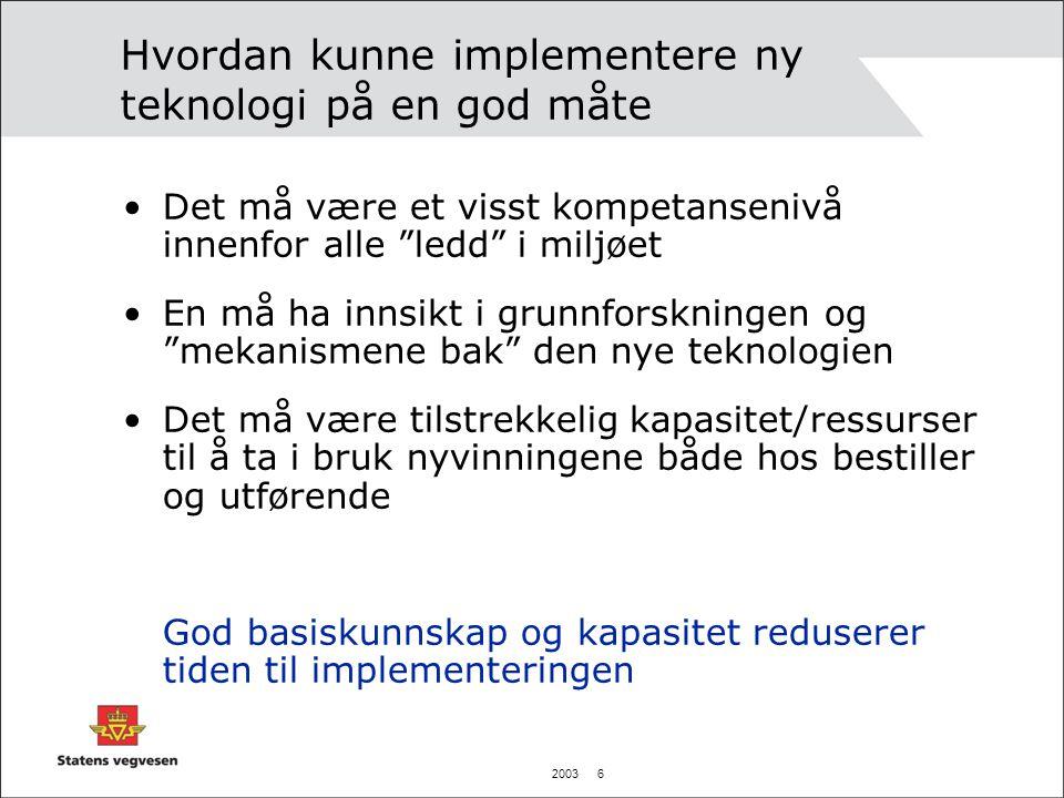 2003 7 Strategi og plan – Viktig.