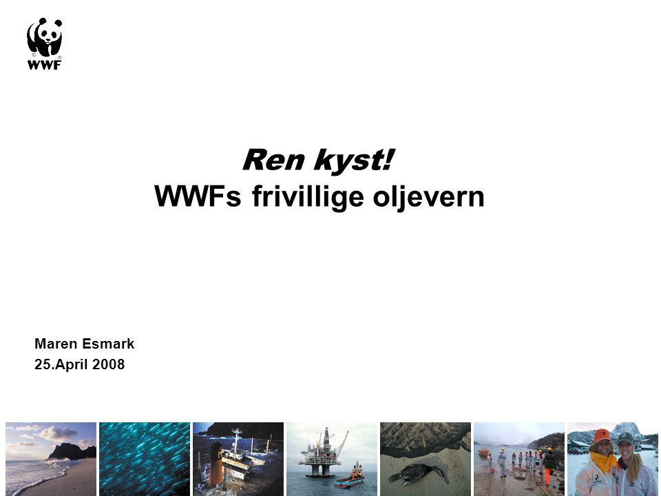 Maren Esmark 25.April 2008 Ren kyst! WWFs frivillige oljevern