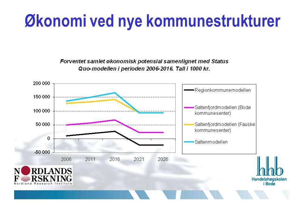 Økonomi ved nye kommunestrukturer