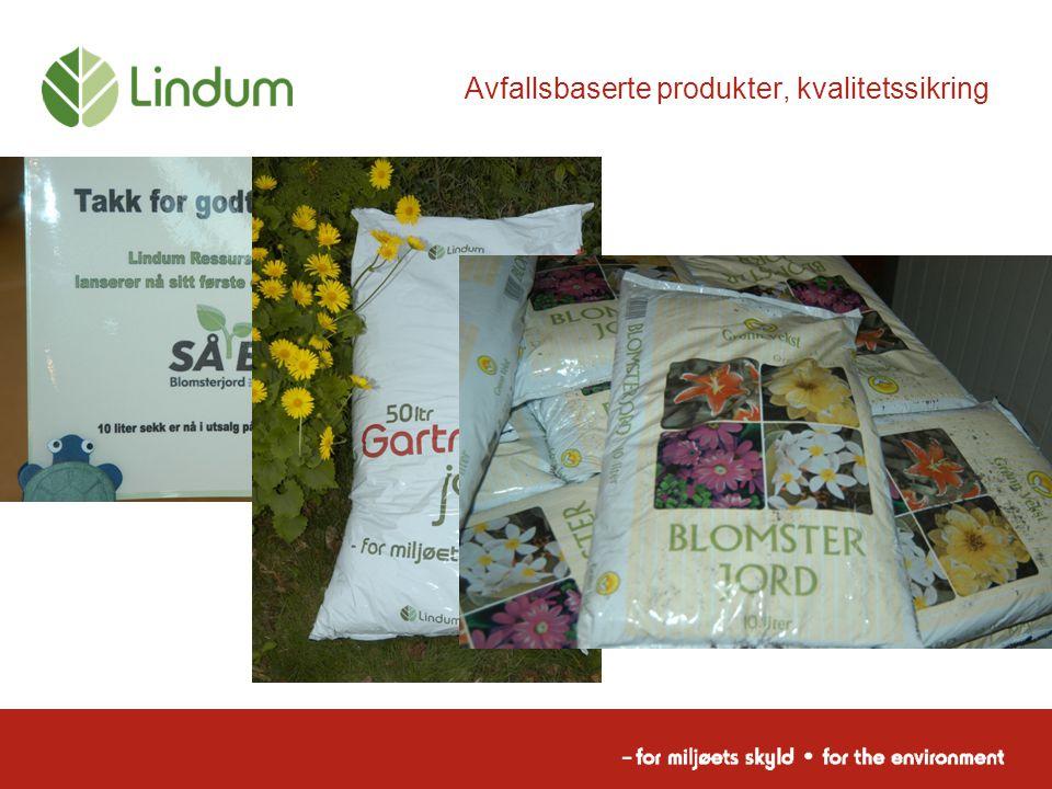 Avfallsbaserte produkter, kvalitetssikring