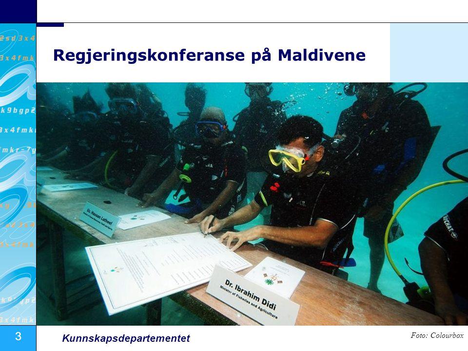 3 Kunnskapsdepartementet Regjeringskonferanse på Maldivene Foto: Colourbox