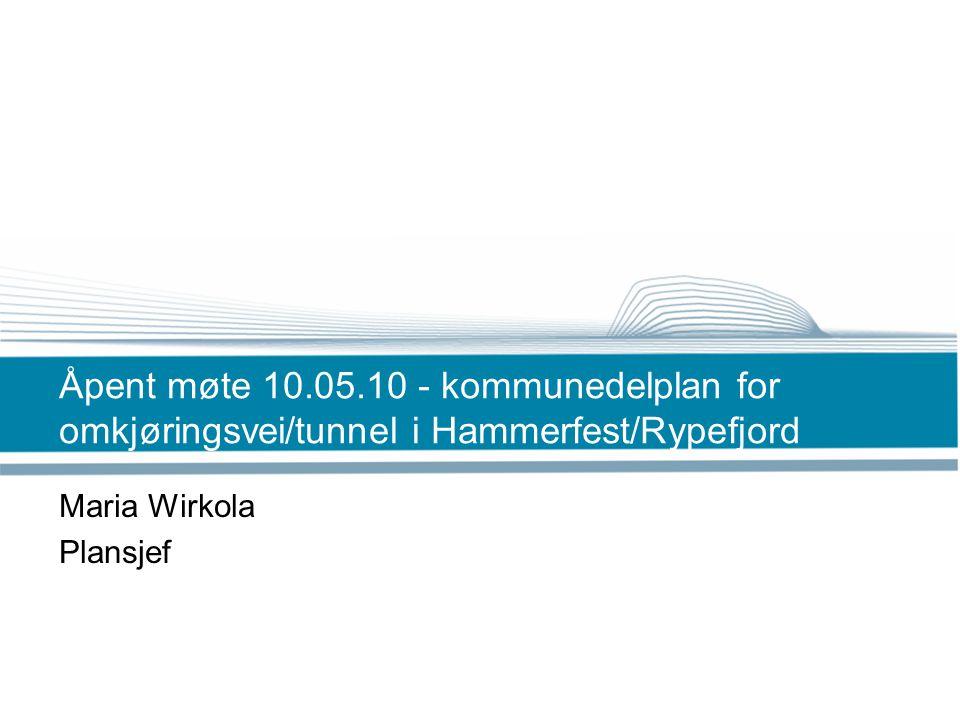 Bakgrunn for planarbeidet •Stadig økende biltrafikk i Hammerfest sentrum.