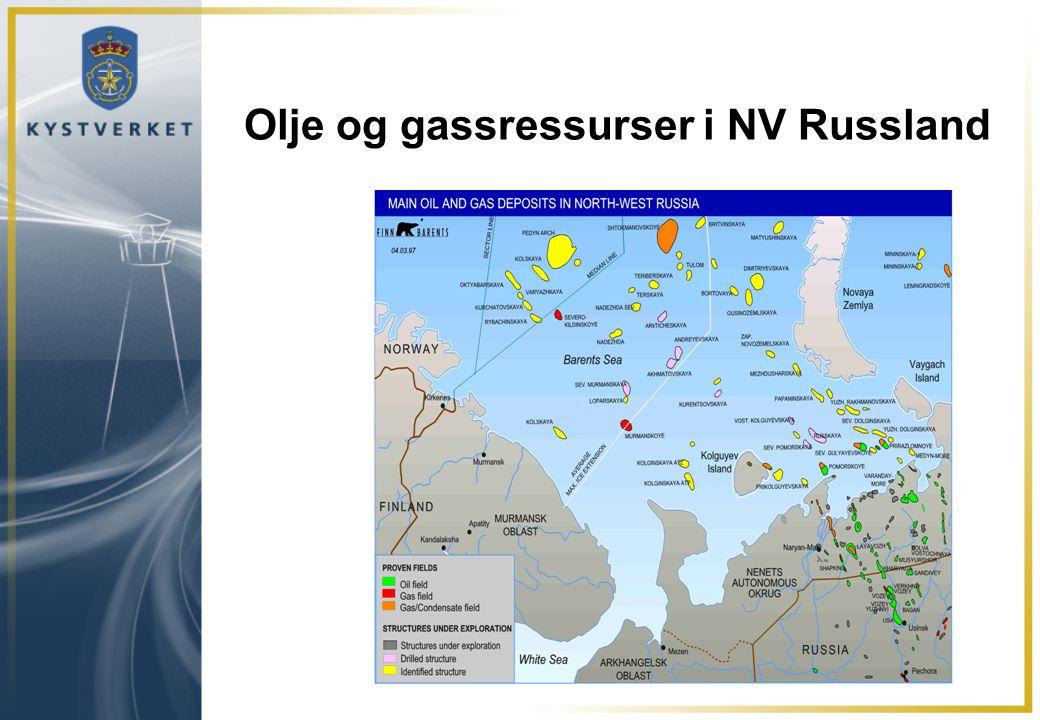 Olje og gassressurser i NV Russland