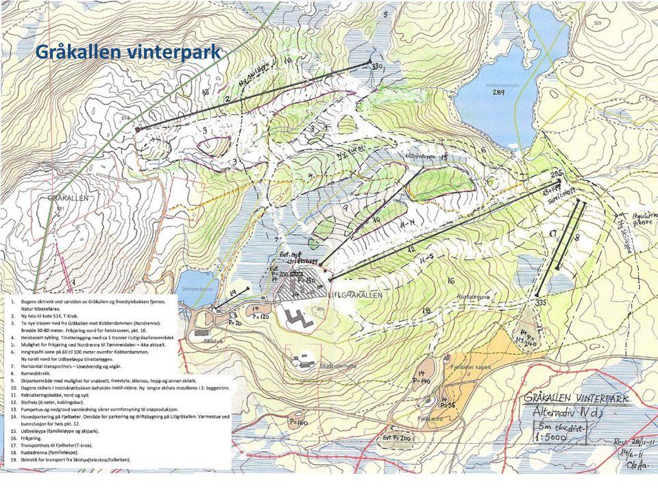 Oppdatert alternativ - kart Gråkallen vinterpark