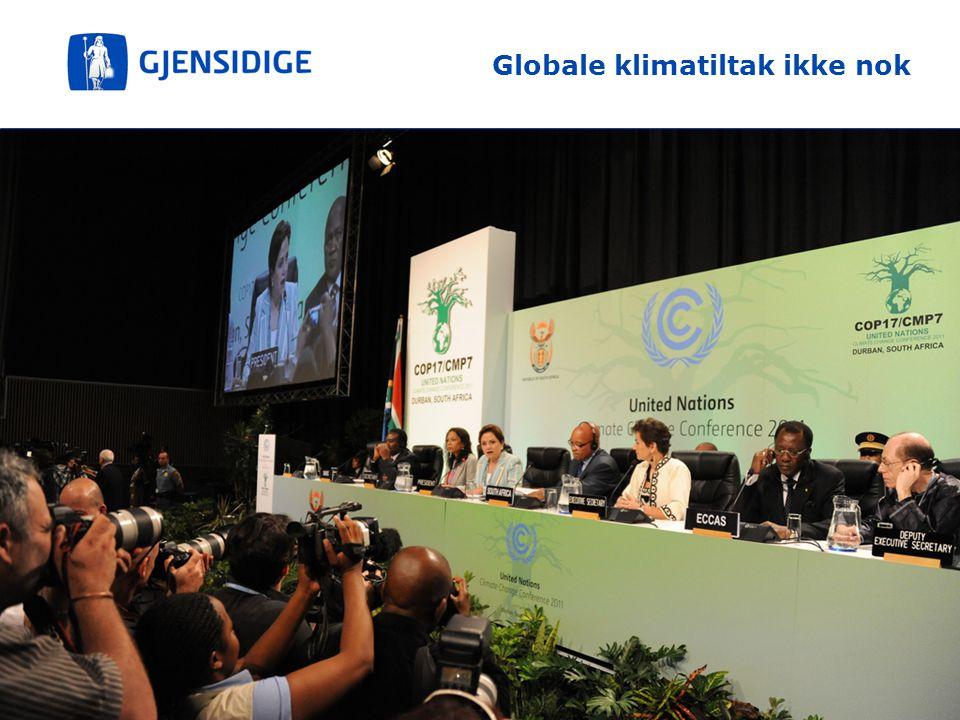 3 Globale klimatiltak ikke nok