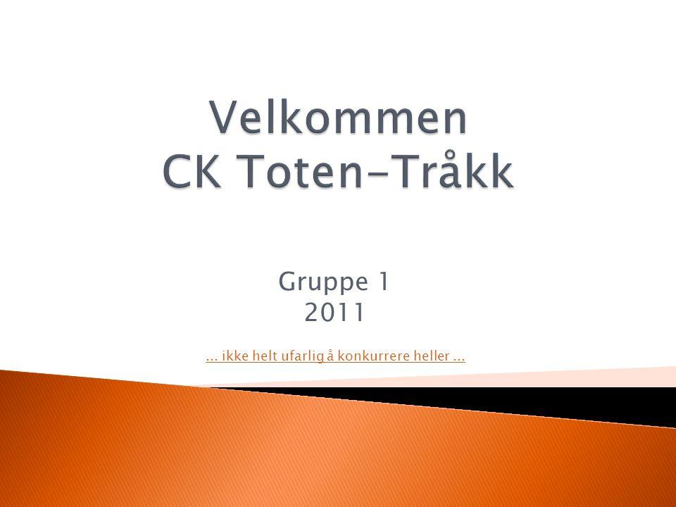 Gruppe 1 2011... ikke helt ufarlig å konkurrere heller...