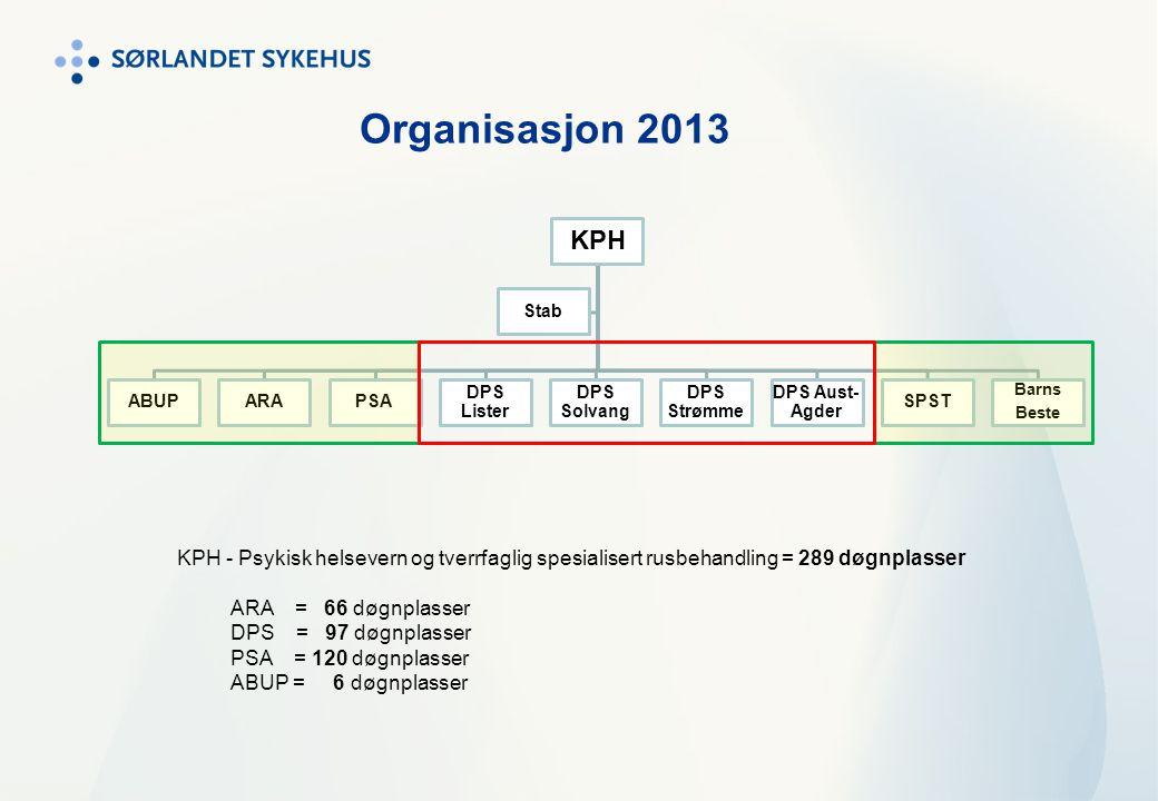 KPH ABUPARAPSA DPS Lister DPS Solvang DPS Strømme DPS Aust- Agder SPST Barns Beste Stab Organisasjon 2013 KPH - Psykisk helsevern og tverrfaglig spesi