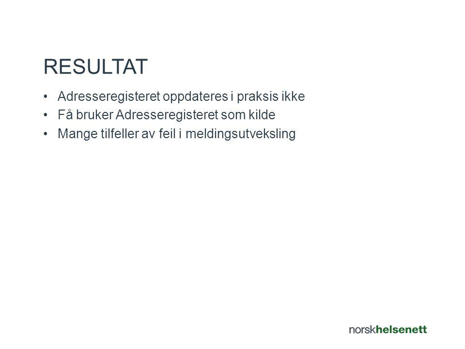 •OSEAN Utbredelse v/NHN avsluttes 1.oktober 2014 •OSEAN forvaltes videre av Hdir som en del av Adresseregisteret •NHN bistår videre prosesser v/tjenesteansvarlig for AR AVSLUTNING OSEAN UTBREDELSE
