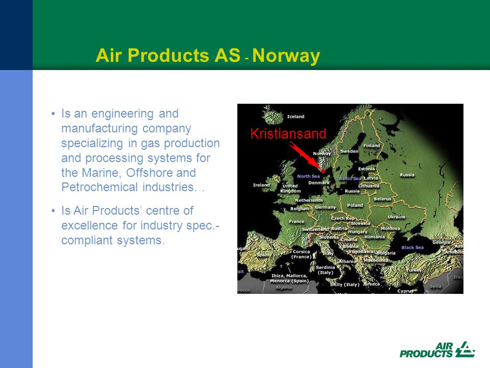 Historie – Air Products AS 8 Stiftet i 1970.