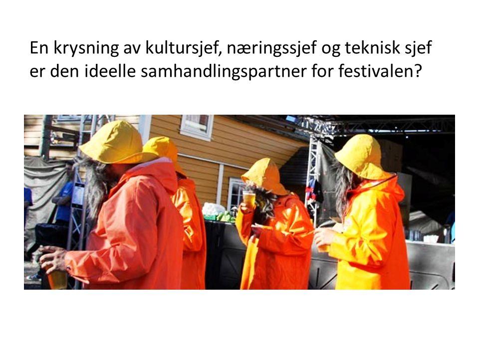 En krysning av kultursjef, næringssjef og teknisk sjef er den ideelle samhandlingspartner for festivalen?