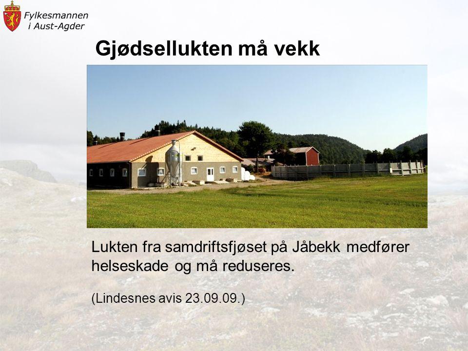Gjødsellukten må vekk Lukten fra samdriftsfjøset på Jåbekk medfører helseskade og må reduseres.