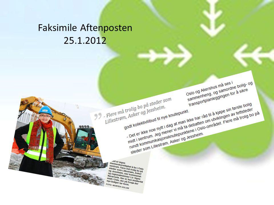 Faksimile Aftenposten 25.1.2012