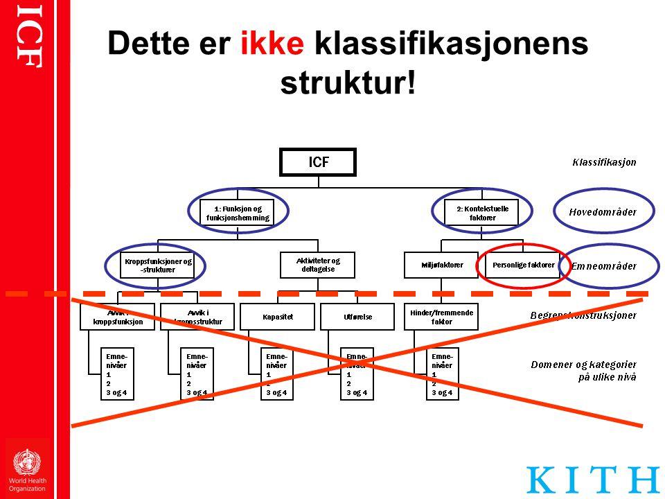 ICF Dette er ikke klassifikasjonens struktur!