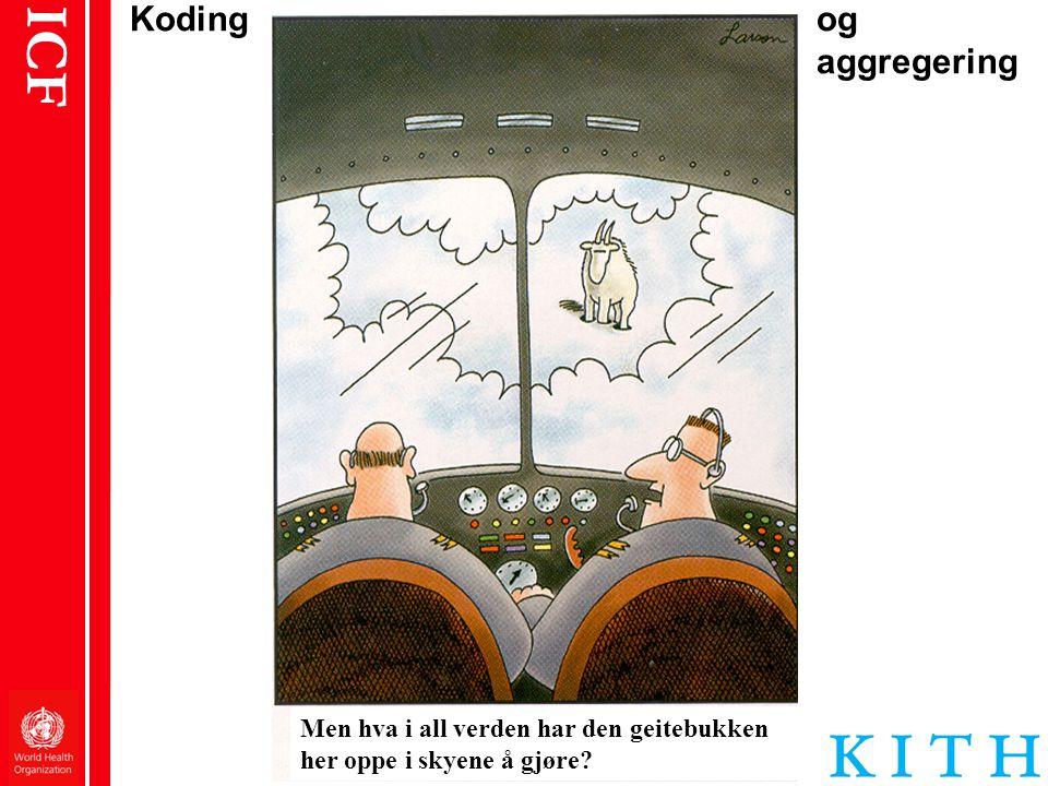 ICF Koding og aggregering Men hva i all verden har den geitebukken her oppe i skyene å gjøre?