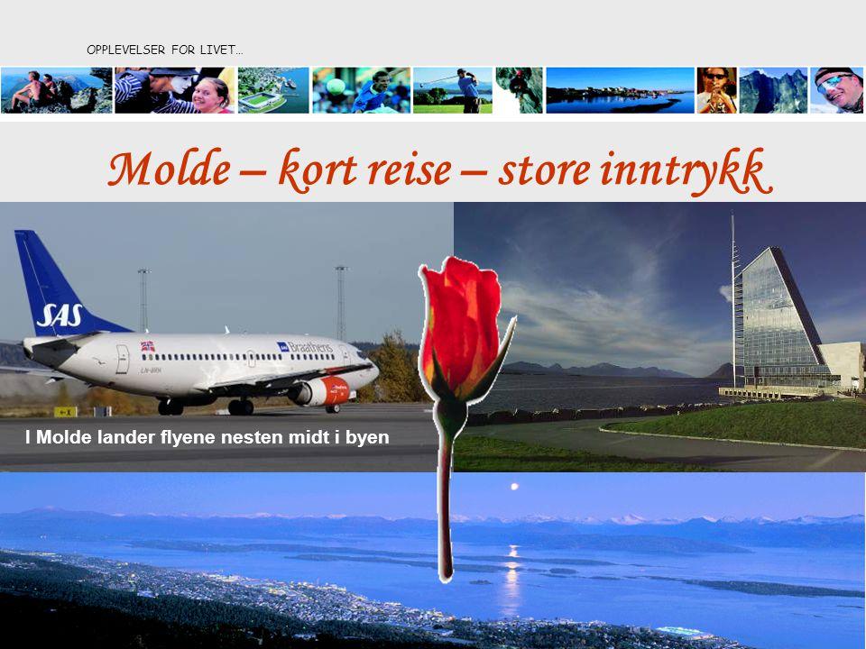 OPPLEVELSER FOR LIVET… I Molde lander flyene nesten midt i byen Molde – kort reise – store inntrykk
