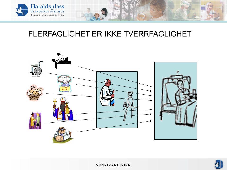 SUNNIVA KLINIKK FLERFAGLIGHET ER IKKE TVERRFAGLIGHET