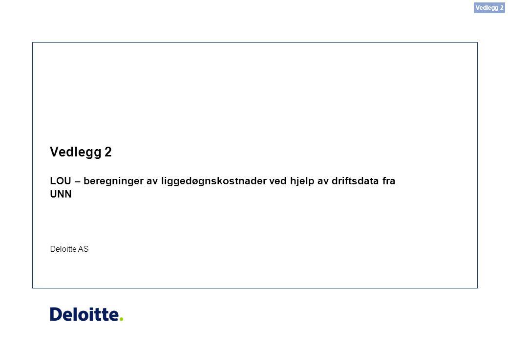 Deloitte AS Vedlegg 2 LOU – beregninger av liggedøgnskostnader ved hjelp av driftsdata fra UNN Vedlegg 2