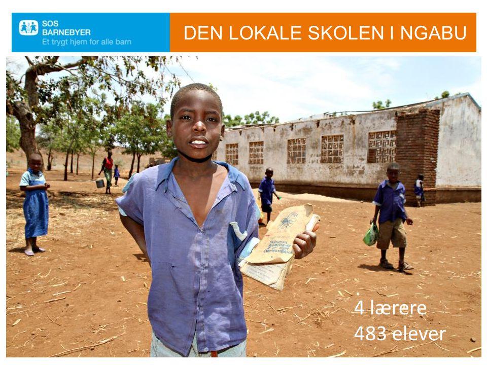 DEN LOKALE SKOLEN I NGABU 4 lærere 483 elever