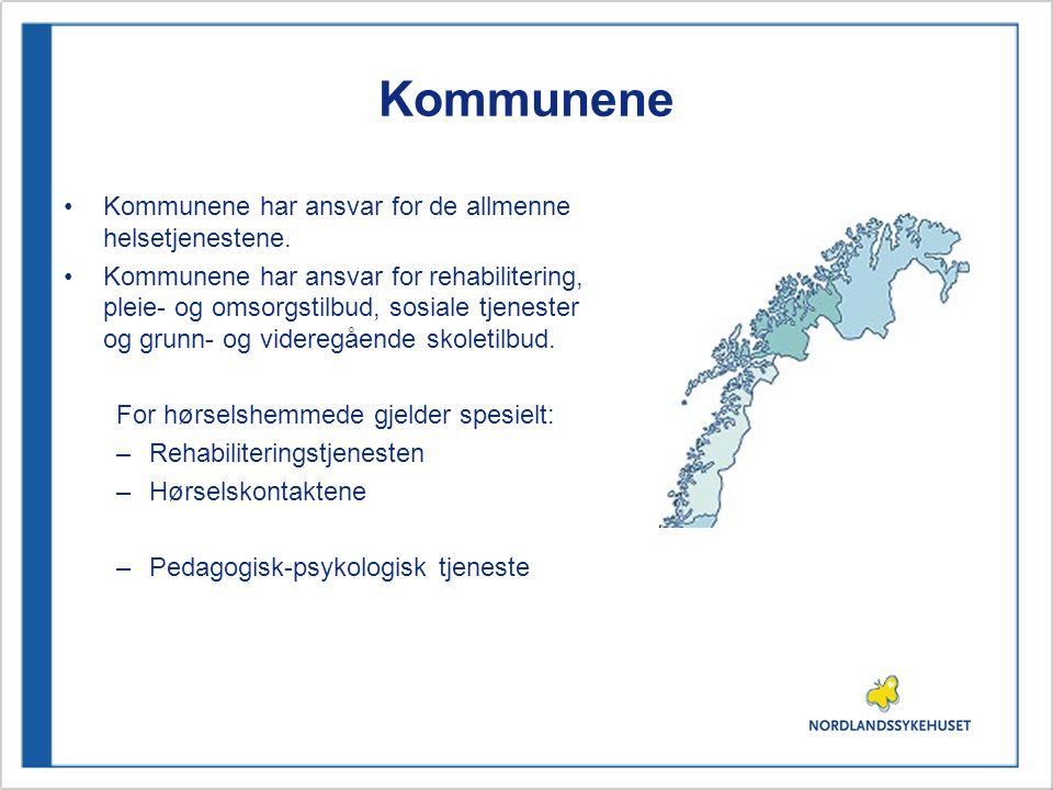 Kommunene •Kommunene har ansvar for de allmenne helsetjenestene.