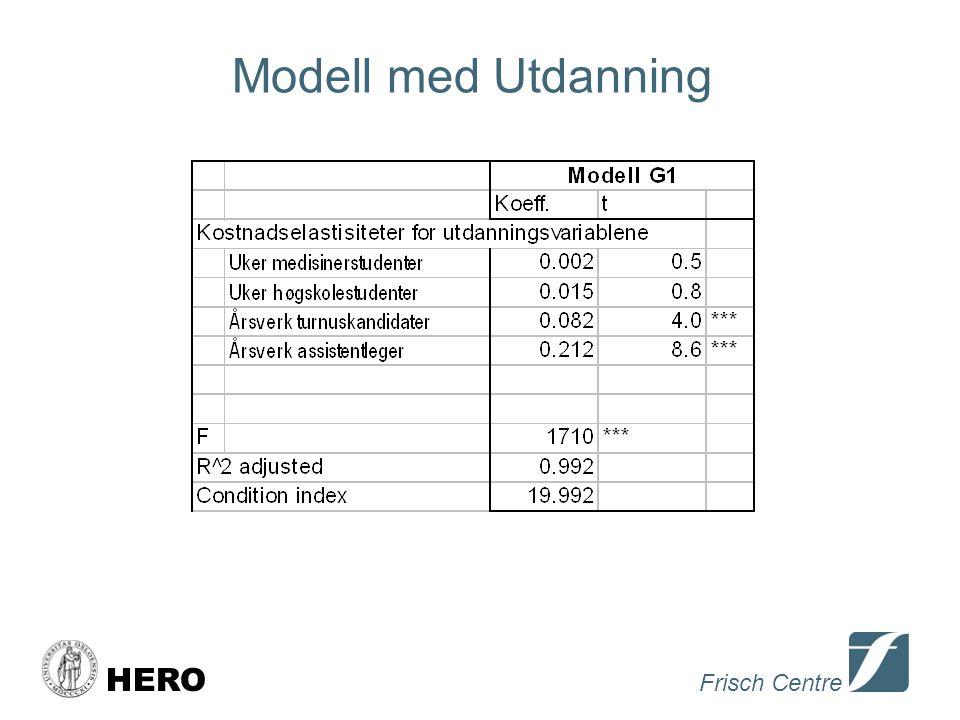 Frisch Centre HERO Modell med Utdanning