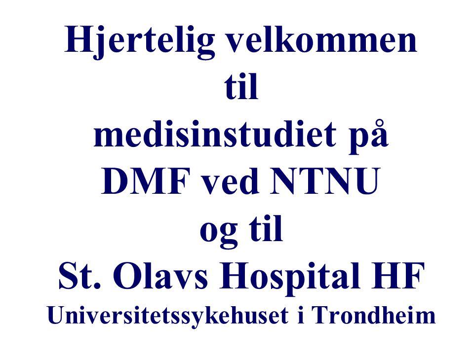 Hjertelig velkommen til medisinstudiet på DMF ved NTNU og til St.
