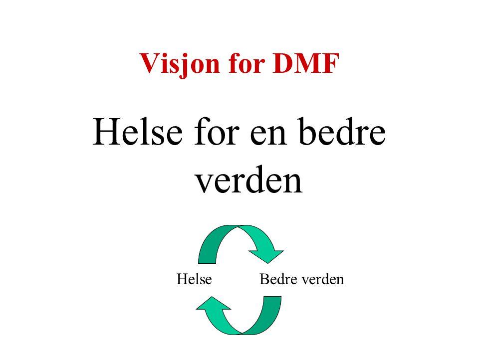 Visjon for DMF Helse for en bedre verden HelseBedre verden