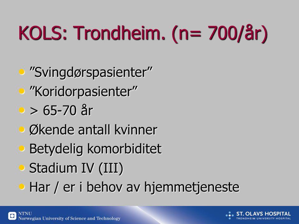 KOLS: Trondheim.