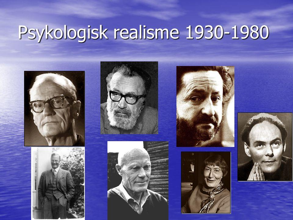 Psykologisk realisme 1930-1980