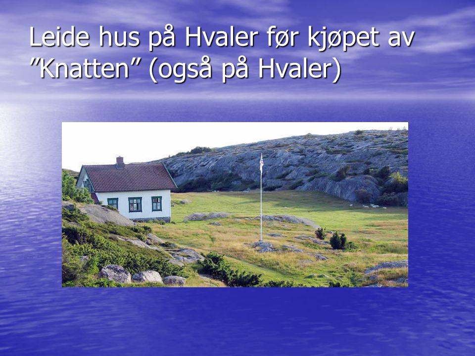 """Leide hus på Hvaler før kjøpet av """"Knatten"""" (også på Hvaler)"""