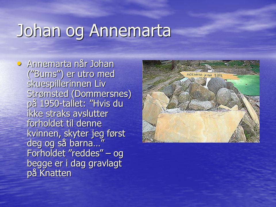 """Johan og Annemarta • Annemarta når Johan (""""Bums"""") er utro med skuespillerinnen Liv Strømsted (Dommersnes) på 1950-tallet: """"Hvis du ikke straks avslutt"""