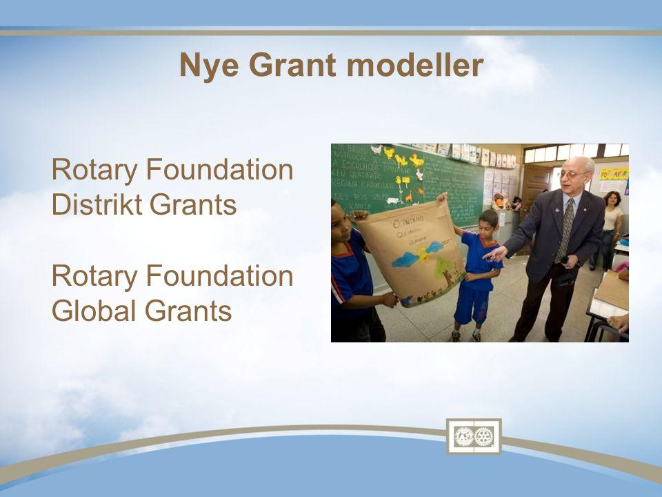 Distrikt Grants •Utdanning og humanitære aktiviteter i samsvar med oppdraget •Singelen blokk stipend deles ut årlig •Mindre aktiviteter og prosjekter •Fondet for både lokale eller internasjonale aktiviteter •Lokale beslutningsprosesser med bredere retningslinjer