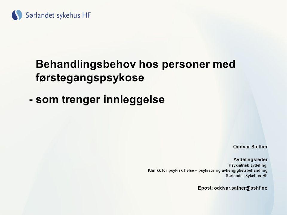 UTFORDRINGER •Ved at en ny post 2.1 i Kristiansand skal betjene døgntilbudet til alle pasienter med førstegangspsykose i Agderfylkene, får den 30 kommuner å skulle samarbeide med.