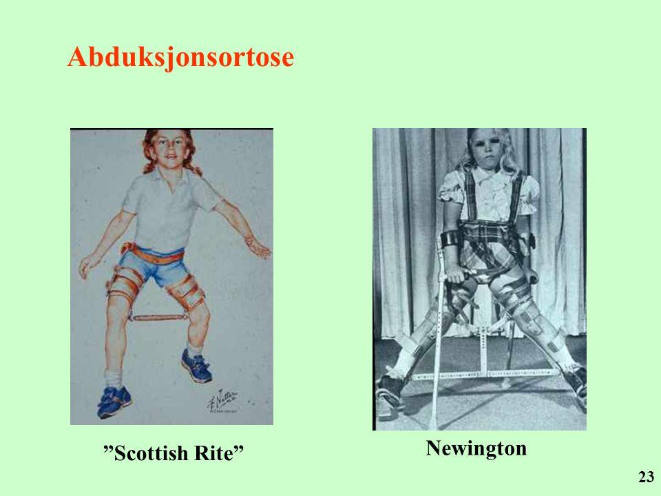 "23 Abduksjonsortose ""Scottish Rite"" Newington"
