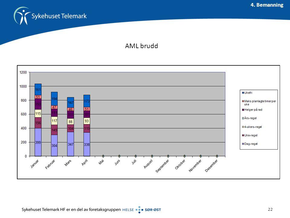 AML brudd 22 4. Bemanning