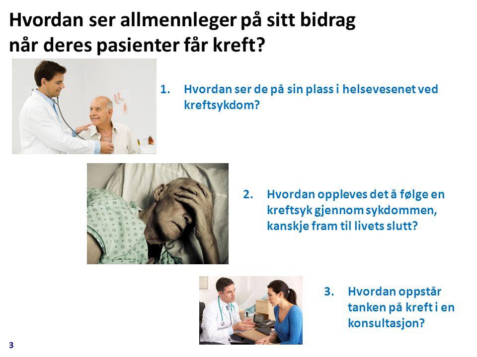 3 1.Hvordan ser de på sin plass i helsevesenet ved kreftsykdom.