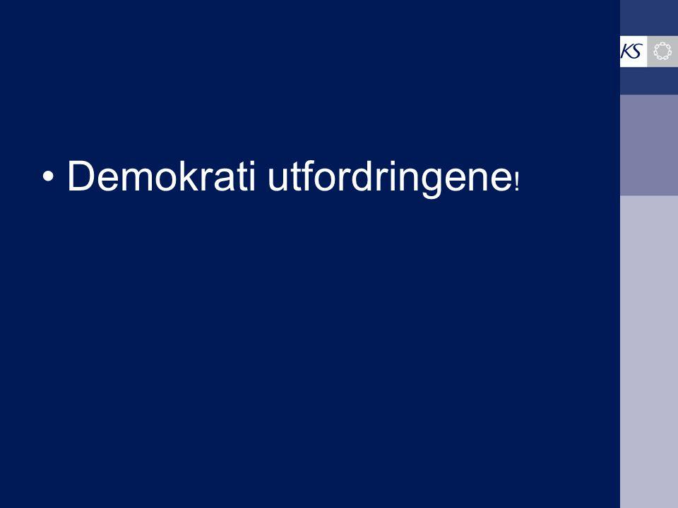 •Demokrati utfordringene !