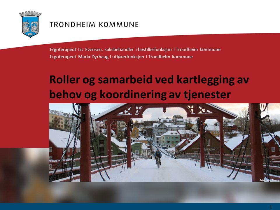 Foto: Geir Hageskal Foto: Helén Eliassen Roller og samarbeid ved kartlegging av behov og koordinering av tjenester Ergoterapeut Liv Evensen, saksbehan