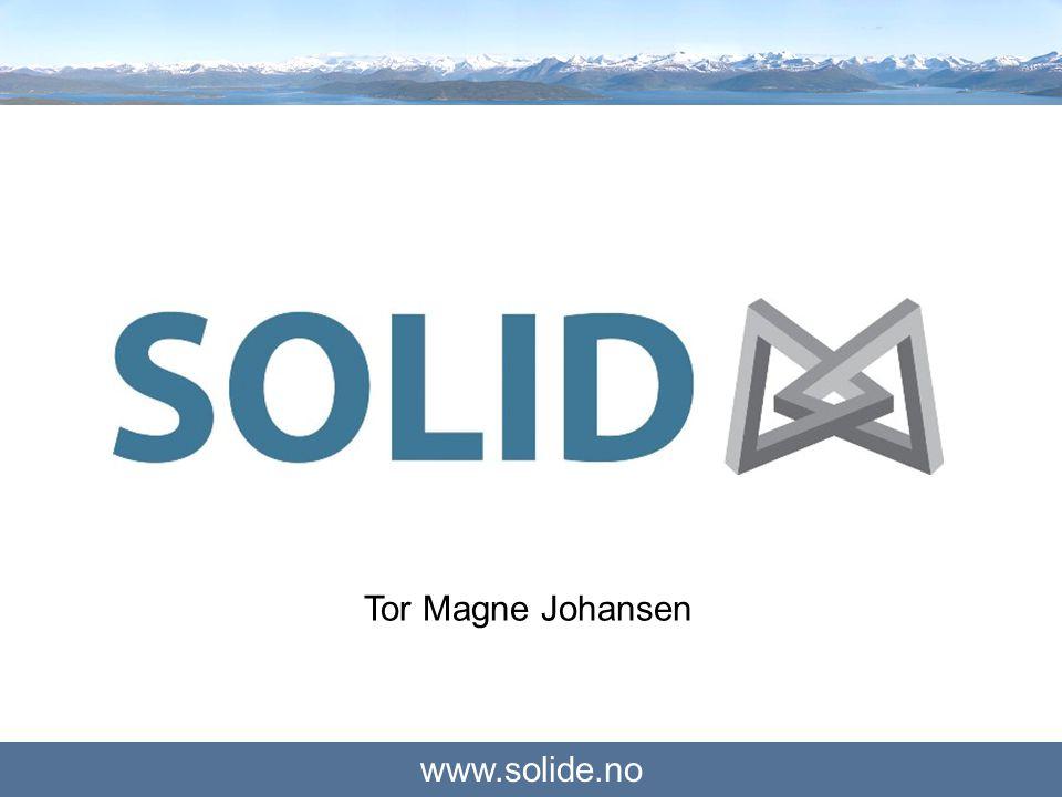 www.solide.no Solid Engineering Solco3S ProsjektXP Montasje Solid Holding Nett ByggSolid Utbygging Juni 2002 - Solid Engineering AS ble etablert av fem partnere med 20% eierandel hver.