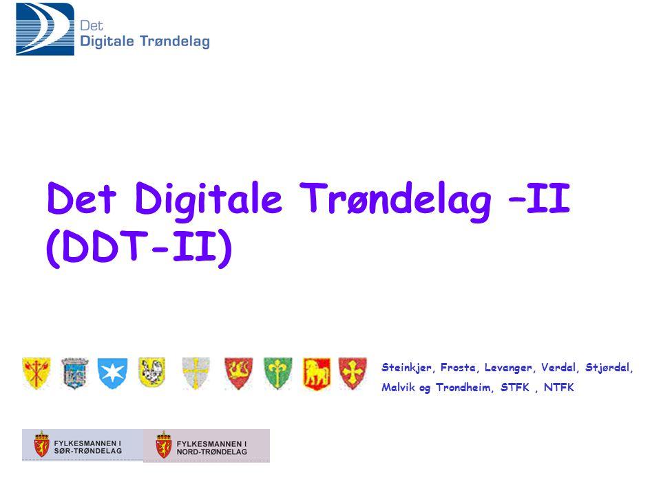Steinkjer, Frosta, Levanger, Verdal, Stjørdal, Malvik og Trondheim, STFK, NTFK Det Digitale Trøndelag –II (DDT-II)