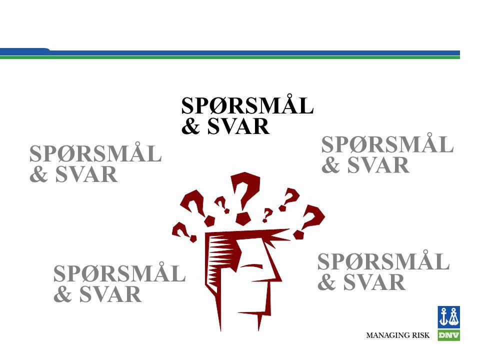 SPØRSMÅL & SVAR SPØRSMÅL & SVAR SPØRSMÅL & SVAR SPØRSMÅL & SVAR SPØRSMÅL & SVAR