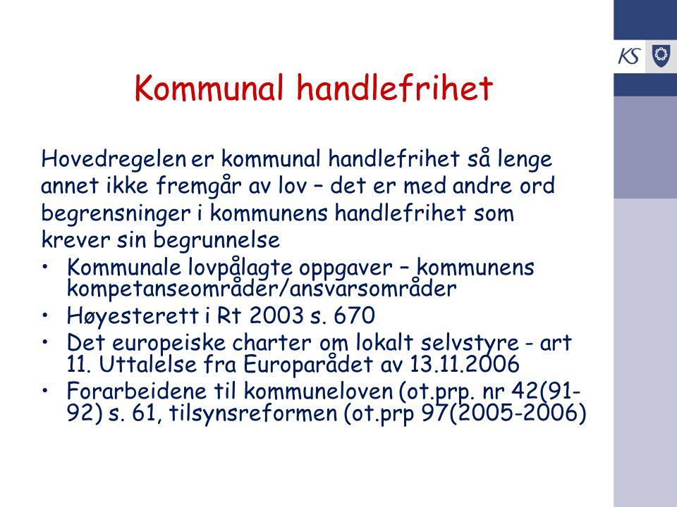 Omfattende endringer i kommuneloven i 2007 •Statlig tilsyn med kommunesektoren – kap 10 A •Interkommunalt samarbeid - § 28 a flg •Utvidet adgang til bruk av åremålsstillinger - § 24 nr.