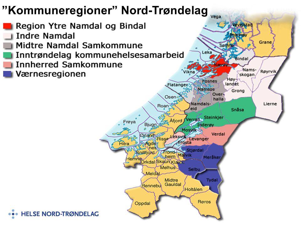 """""""Kommuneregioner"""" Nord-Trøndelag"""