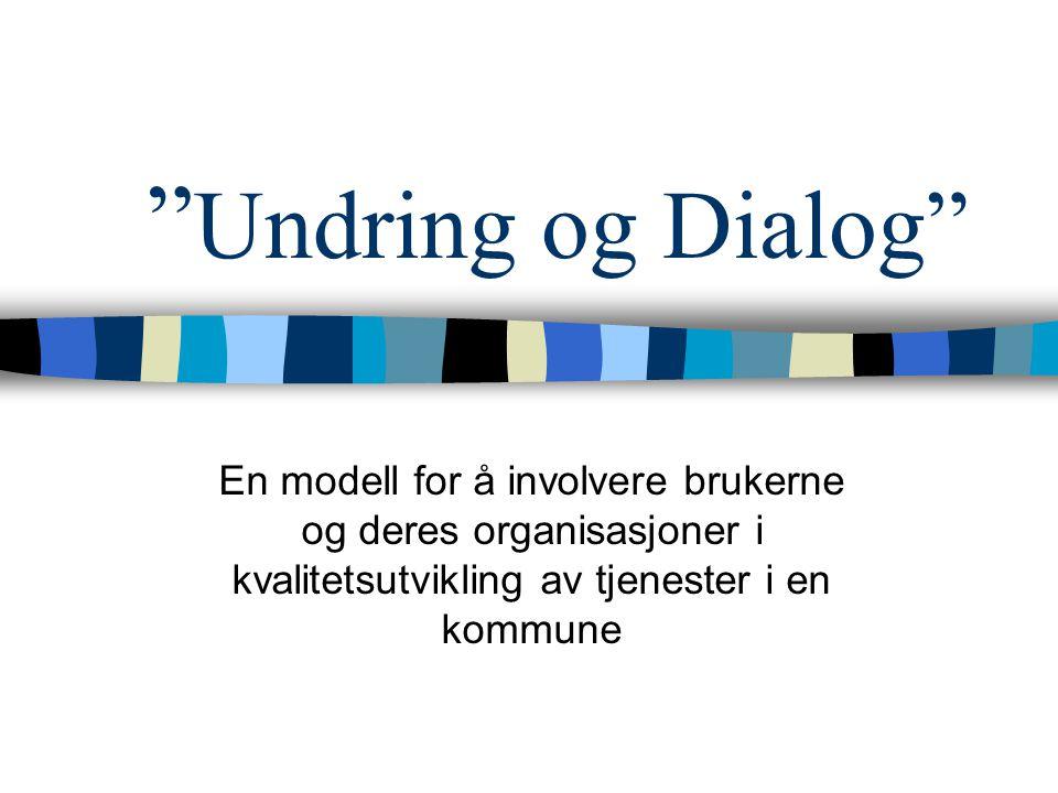 """"""" Undring og Dialog"""" En modell for å involvere brukerne og deres organisasjoner i kvalitetsutvikling av tjenester i en kommune"""
