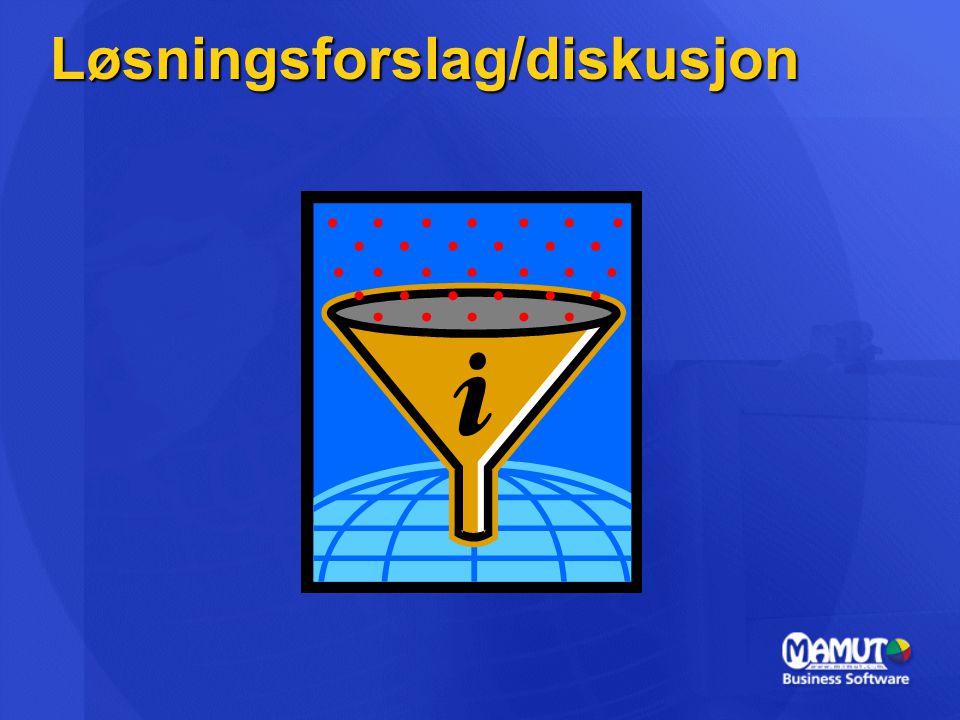 Løsningsforslag/diskusjon