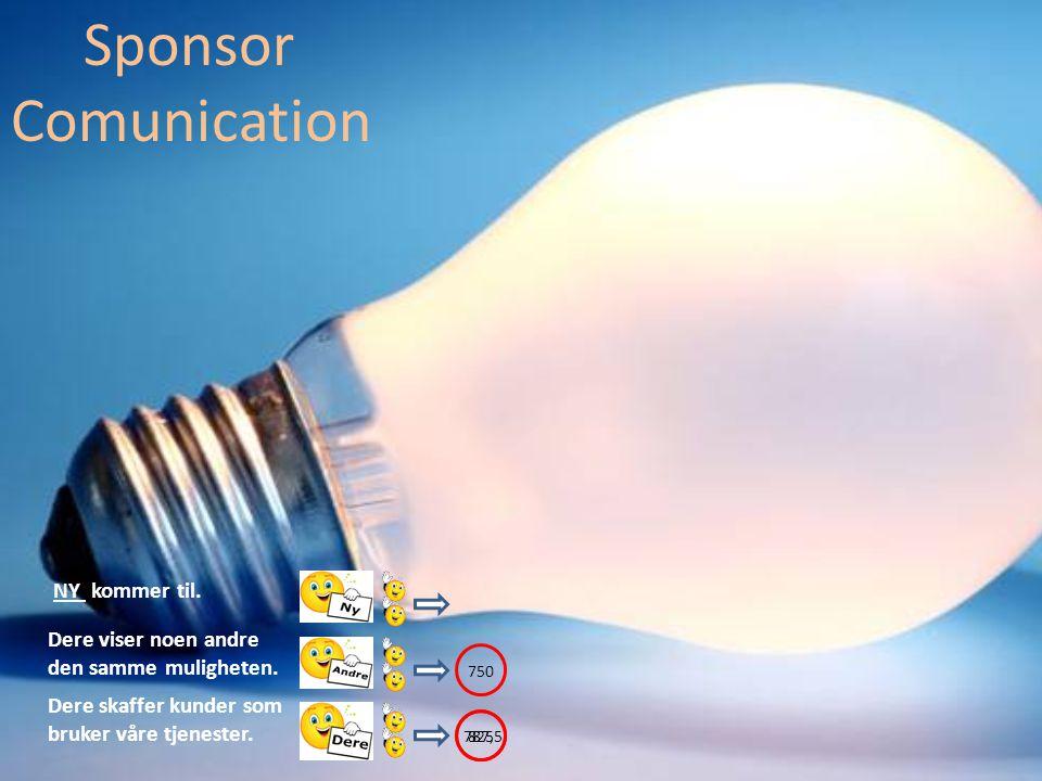 Dere skaffer kunder som bruker våre tjenester. Sponsor Comunication Dere viser noen andre den samme muligheten. NY kommer til. 825 787,5 750