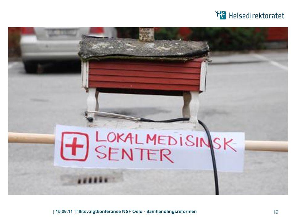 | 15.06.11 Tillitsvalgtkonferanse NSF Oslo - Samhandlingsreformen 19